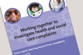 Cover for Joint working team focus report December 2016