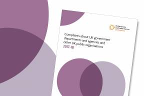 Complaints about UK government departments and agencies-Publications image