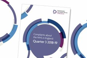 Complaints about the NHS in England Quarter 3 2018-19 report cover